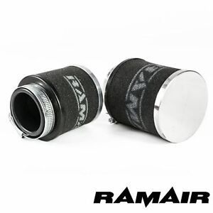55mm ID Neck - Chrome Cap Motorcycle Pod Air Filter