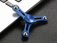 Hand Spinner Tri Fidget Finger Alloy Focus Spin EDC ADHD Kid Adult Toy Gyro