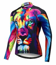 Lion Face Artistic Long Sleeve Cycling Jersey Free Shipping