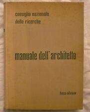 MANUALE DELL'ARCHITETTO - ANNO 1962 - III Edizione - Edilizia - Costruzioni
