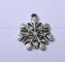 20pcs Tibetan Silver Snowflake Charm Pendants 20X16MM SH848
