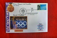 2002 SARAH HUGHES GOLD MEDAL SALT LAKE CITY OLYMPICS COVER FIGURE SKATING