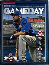 2017 Chicago Cubs Wrigley Field Official May GameDay Program Ben Zobrist