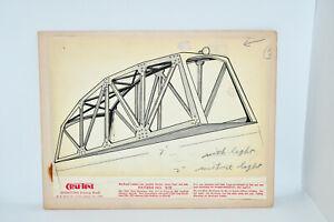 RARE Original Concept Art Board For Marx Toys Bridge