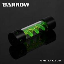 Barrow T-Virus Acrylic Green Helix Watercooling Reservoir 205mm - Black