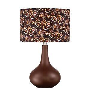 """Quoizel 21"""" Retro Mid-Century Table Lamp Brown Ceramic Q1592T"""