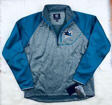 NHL San Jose Sharks G-III Soft Shell 1/4 Zip Pullover Track Jacket Men's L