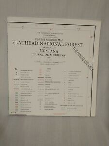 USDA Forest Service Topographical Map FLATHEAD NATIONAL FOREST Montana North VTG