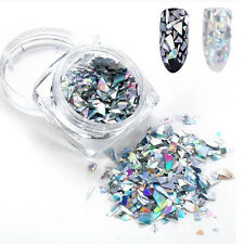 Bling Gold Silver Glitter Laser Holographic Paillette Flakes Women Nail Sequins