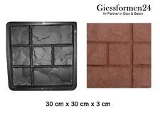 Schalungsform Gießform für Beton Trittsteine Gehweg Garten 30x30x3 cm