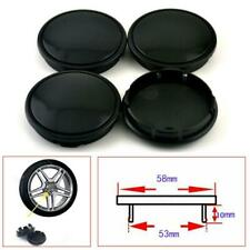 High Quality 4Pcs Car Wheel Center Hub Caps Decorative Cover 58mm/53mm Black ABS