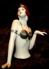 Half pop Mata Hari Sexy Half Doll Pincushion Arms Away Art Deco-Duitse stijl Art