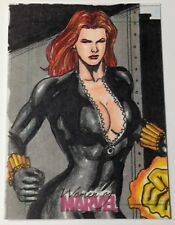 2013 Women Of Marvel 1/1 SketchaFEX Black Widow Sketch Card by Mark Marvida
