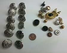 Vintage Fireman Plus Over 600 Mixed Button Lot Sewing Arts Crafts Organizer Box