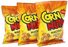 Corn Nuts Nacho - Bold Nacho Roasted Corn Kernels - 3-Bag Snack Pack
