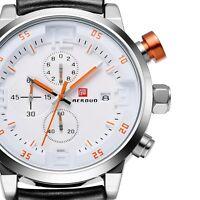 Mens Analog Black Quartz Sport Army Date Wrist Watch Stainless Steel Luxury UK