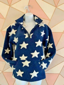NEW Next Ladies 6/8/10/12/14/16/18/24 Borg Blue Star Loungewear Snuggle Jumper