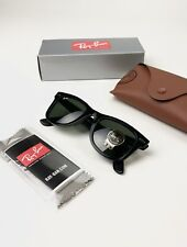 7a8593aaec Ray-Ban Wayfarer RB2140 Black Sunglasses 901 50mm - New with tags