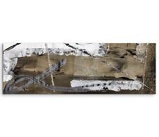 Leinwandbild Panorama braun grau weiß Paul Sinus Abstrakt_535_150x50cm