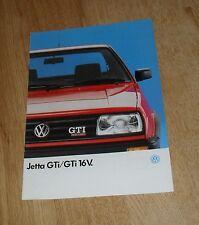 Volkswagen VW Jetta GTI & GTI 16v Brochure 1989-1990 Big Bumper UK Market