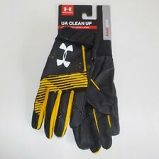 Under Armour CLEAN UP Baseball Batting Gloves BLACK 1299531 750 Youth MEDIUM