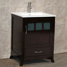 "24"" Bathroom Vanity 24-inch Cabinet Ceramic Top Intergrated Sink Faucet TR1"