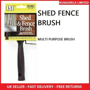 SHED FENCE PAINT BRUSH - Emulsion Decking Vinyl & Synthetic filling wood