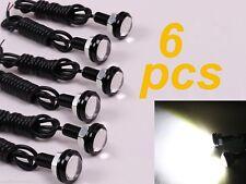 6 x 3W Car Motor LED Black Eagle Eye Daytime Running DRL Tail Backup White Light