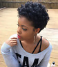 Short Afro Curly Wigs Pixie Cut Wig Synthetic for African American Black Women