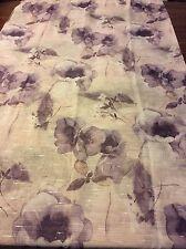 Sheer Floral Shower Curtain Purple Taupe Colors Beautiful Design  NIP