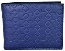 Portafoglio Alv By Alviero Martini Uomo Blu Logato Wallet Men Blue Made In Italy