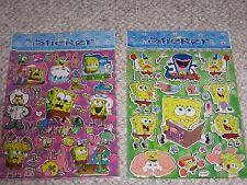 Spongebob Stickers Sealed 2 Sheets Sandy Patrick Gary Squidward