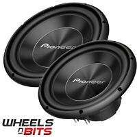 "2x Pioneer TS-A300D4 12"" Inch 30cm 1500 WATTS Dual Voice Car Sub Bass Subwoofer"