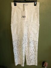 Zara White Lace Pants $89.90+Tax