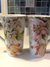 222Fifth Ellis 2 New Tall Latte Mugs