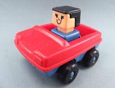 Vintage 1975 Playskool Familiar Places Play Friends Car and figure Block Heads