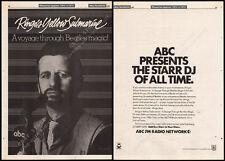 RINGO'S YELLOW SUBMARINE__Original 1983 Trade AD radio promo_poster__THE BEATLES