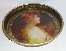 """Christian Feigenspan Beer Tray, Newark N. J. (13 3/8"""" Diameter)"""
