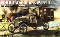 FORD T MILITARY AMBULANCE (AMERICAN EXPEDITIONARY FORCE IN EUROPE) 1/72 RPM RARE