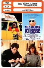 ALLO MAMAN ICI BEBE - Travolta,Alley,Willis(Fiche Cinéma)1989 Look Who's Talking