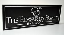 Personalized Family Name Sign Plaque Carved 7x20