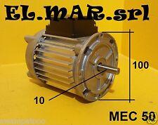 Motore Elettrico Monofase HP 0,12 kW 0,09 Poli 2 2800 giri B5 Mec50 ventilazione