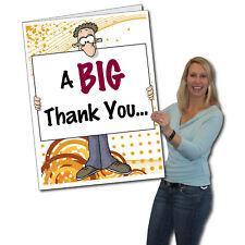 Giant Thank You Card, Big Thanks - 2' x 3' w/envelope-