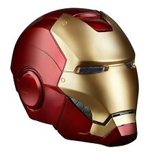 Marvel Authentic Iron Man Costume Cosplay Helmet Replica w/ LED Light Up Eyes NE