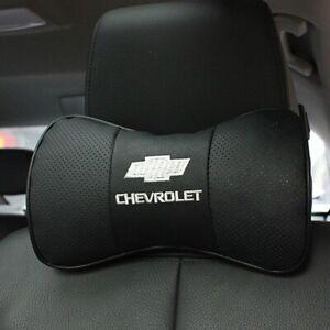 Chevrolet Luxury Leather Auto Pillow VIP NECK Pillow - Chevrolet