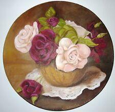"""tableau huile """"Bouquet de roses"""""""