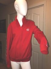 UMBRO Zip Up Track Top Sweater Knit red Jacket Size M