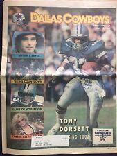 """"""" NFL Dallas Cowboys Official Weekly Magazine October, 13, 1984; Vol. 10, No.18"""