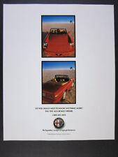 1991 Alfa Romeo Spider red convertible 2 photo vintage print Ad