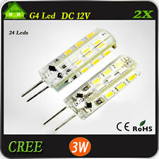G4 LED LIGHT 24 SMD Cool White Caravan Car 4WD Kitchen Oven Two Pin